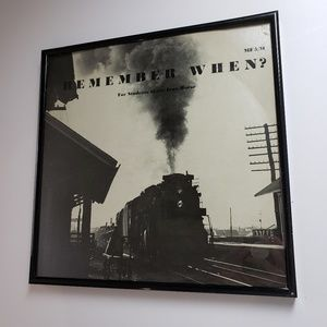Framed Remember When Train Record Sleeve Wall Art